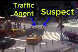 Atropello masivo en Times Square