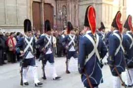 Relleu de la Guàrdia d'Honor al Palau de l'Almudaina