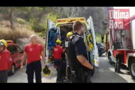 Rescate de un pescador en Andratx