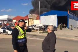 Incendio en una nave industrial del Polígono de Marratxí