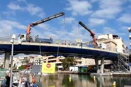 Desmontaje del Pont des Riuet de Porto Cristo