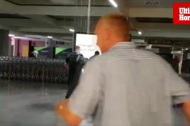 Rotura de una tubería en el aeropuerto de Palma