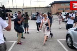 Maria Antònia Munar a su salida de la prisión