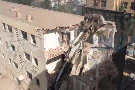 Comienza el derribo del edificio Santa Margalida de Vila