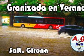 Granizada en Salt, Girona