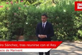 Pedro Sánchez habla del REB tras reunirse con el Rey en Marivent