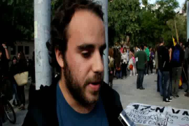 Manifestación de estudiantes universitarios