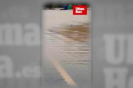 Inundación en la carretera de sa Pobla-Pollença