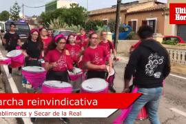Marcha reivindicativa de los vecinos de Establiments y de Secar de la Real, Palma