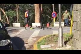 Un camionero agrede a dos ciclistas con un martillo en Marín
