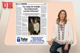 Aina Ginard resume la entrevista con las representantes de Kellys Unión Balear.