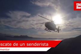 Rescate de un senderista en Formentor