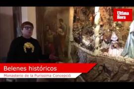 Las 'caputxines' arropan su colección de belenes con cerámica y mobiliario
