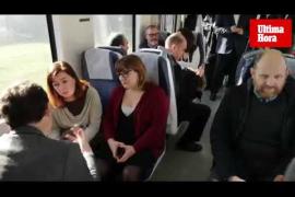 Viaje inaugural del tren eléctrico