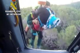 La Guardia Civil rescata a un ciclista en el puig de Galatzó