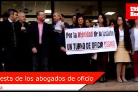 Protesta de los abogados de turno de ofico