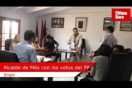 Sorpresa en Búger al proclamarse alcalde el candidato de Més con los votos del PP