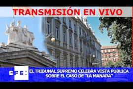 Vista pública a los miembros de La Manada en el tribunal Supremo