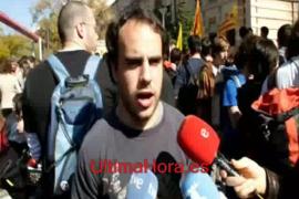 Manifestación de estudiantes en Palma