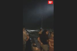 Rescate de un velero encallado en Cala Rajada