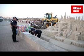 Retiran castillos de arena de la Platja de Palma