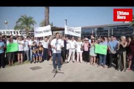 Manifestación a favor de los cruceros en Palma