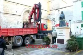 Retirada la estatua de Jaume II en Sineu