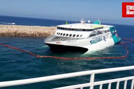 Ferry de Baleària encalla en Alicante