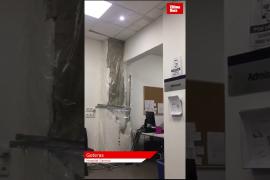 Goteras y cortes de luz en el hospital General de Palma