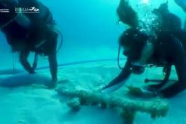 Recuperados 11 sables del siglo XIX bajo el mar en un hallazgo sin precedentes en Formentera