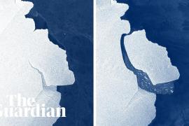 City-sized iceberg separates from Antarctic ice shelf