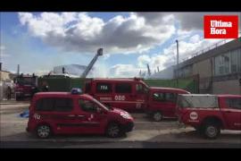 Incendio en una fábrica del reciclaje del polígono de Marratxí