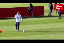 Messi entrena junto a la selección argentina en Mallorca