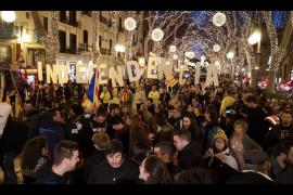 Manifestación en Palma por la Diada de Mallorca