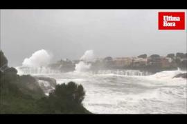 Espectacular temporal marítimo en Mallorca