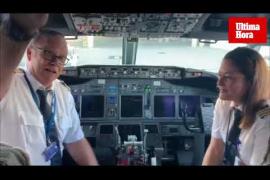 Jubilación del comandante Herrero en el Aeropuerto de Palma